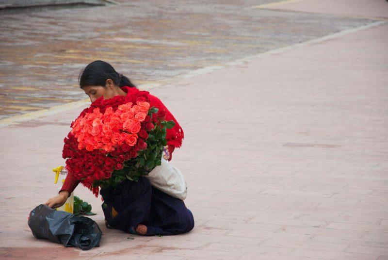 flower vendors Guatemala