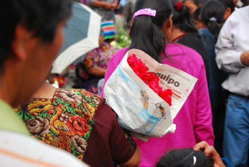 flower vendors in Guatemala