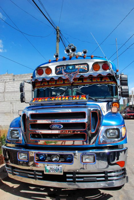 chicken bus in latin america