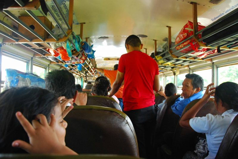 Road Routes: El Tunco to El Cuco Bus