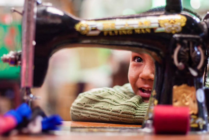 Boy at market Myanmar Burma