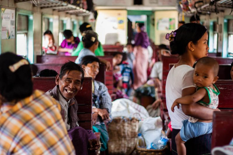 Hsipaw train Myanmar Burma