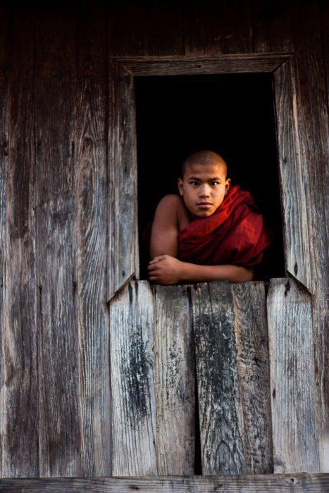 Monks in Kalaw Myanmar Burma