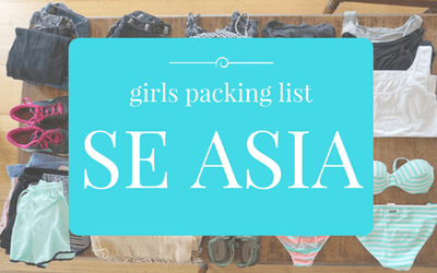 girls packing list philippines
