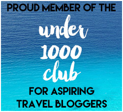 under 1000 club travel blogger