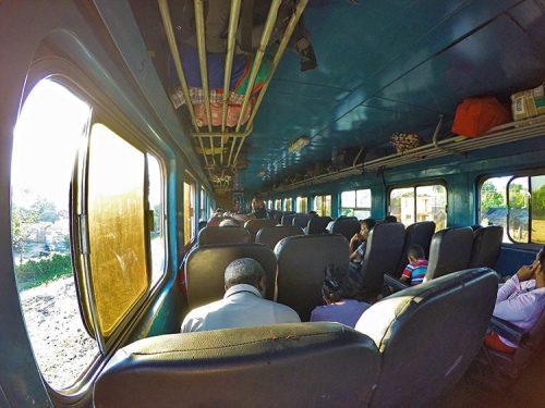 Taking a train across Cuba