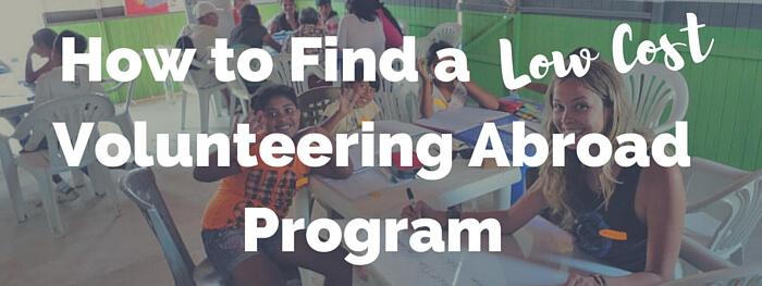 find a low cost volunteering program