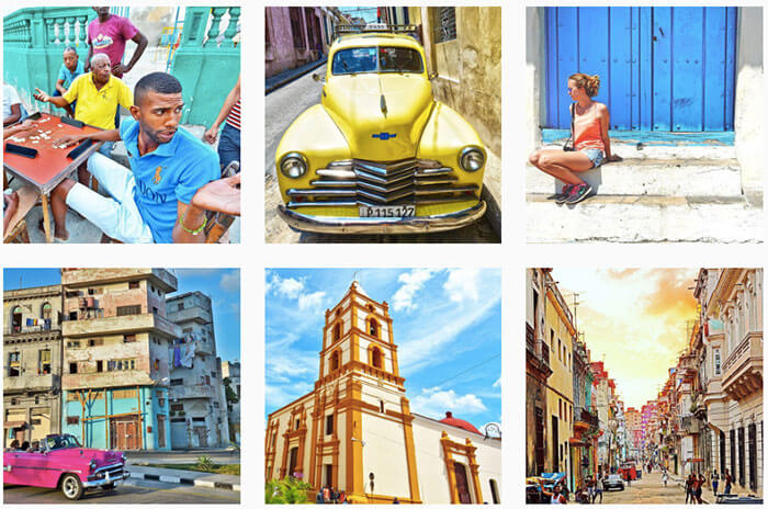 using social media in cuba as american
