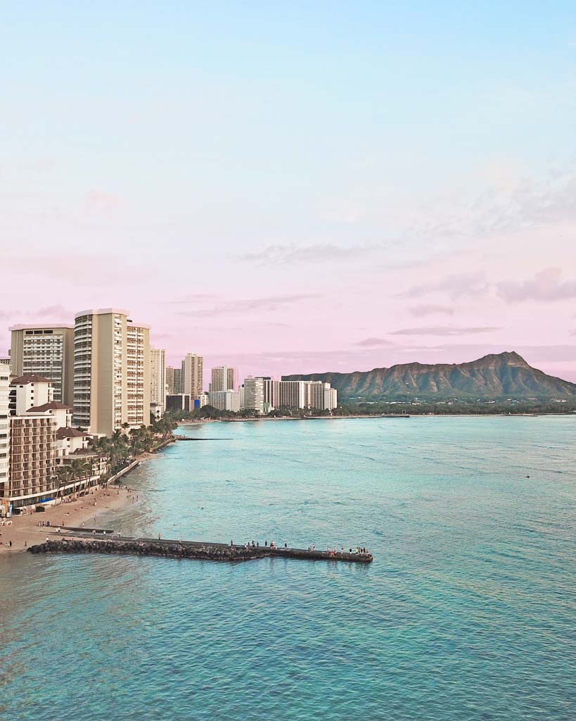 Honolulu layover sunset beach