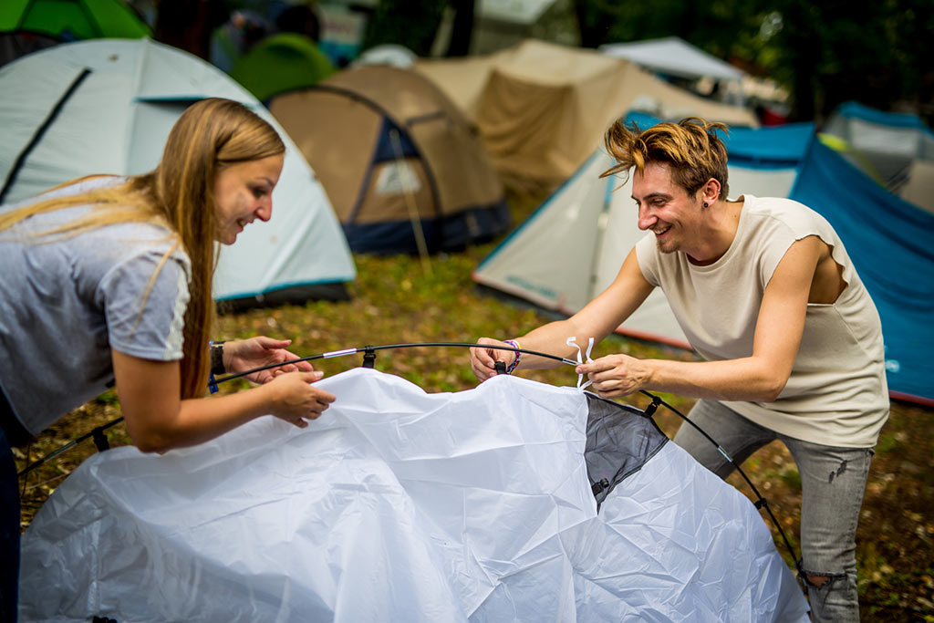camping at Sziget festival