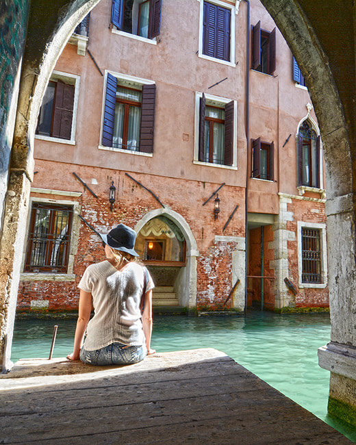 Exploring the streets of Venice
