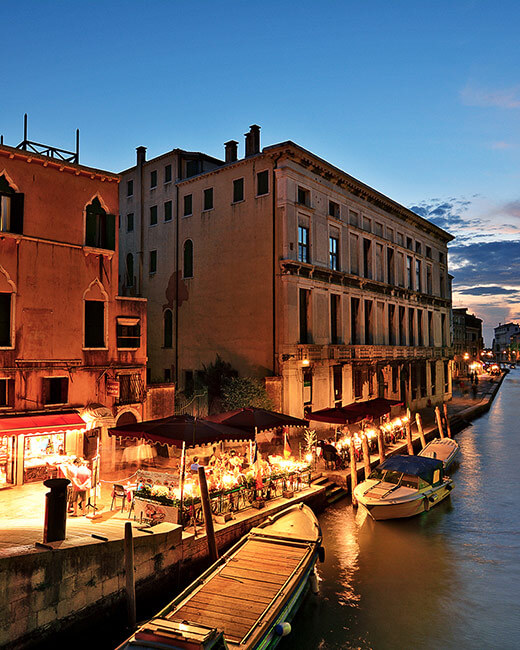 Exploring Venice Italy at night