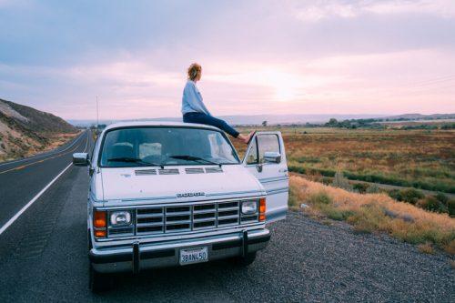 Oregon van road trip travel