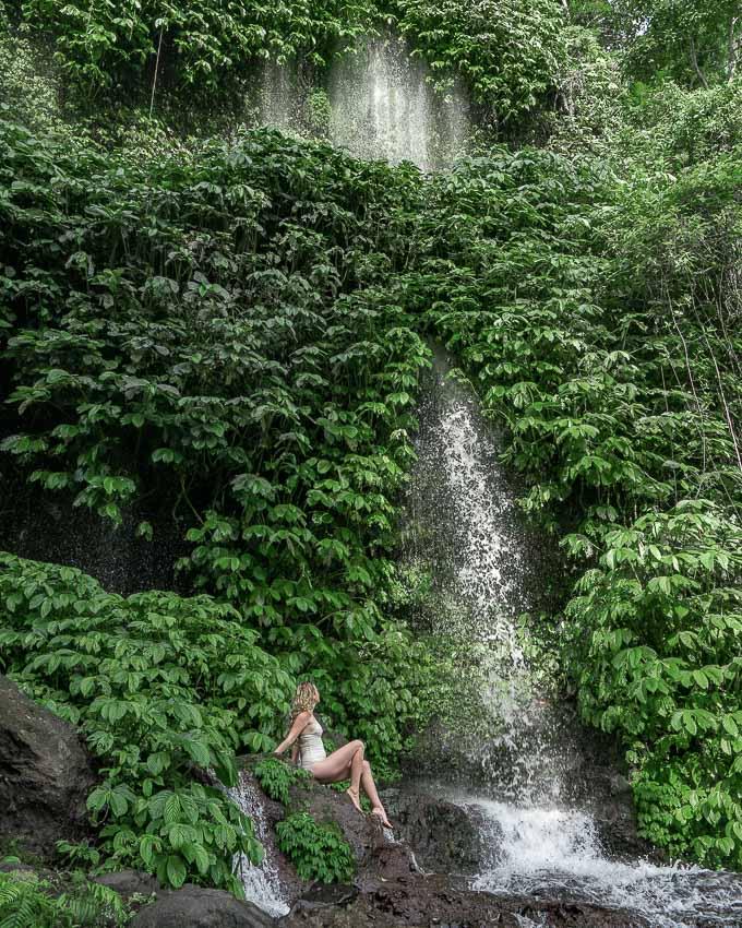 best waterfall on Lombok