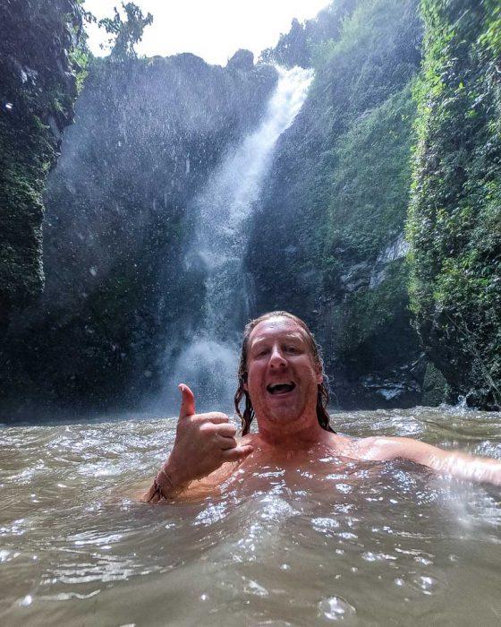 swimming in Lombok waterfalls