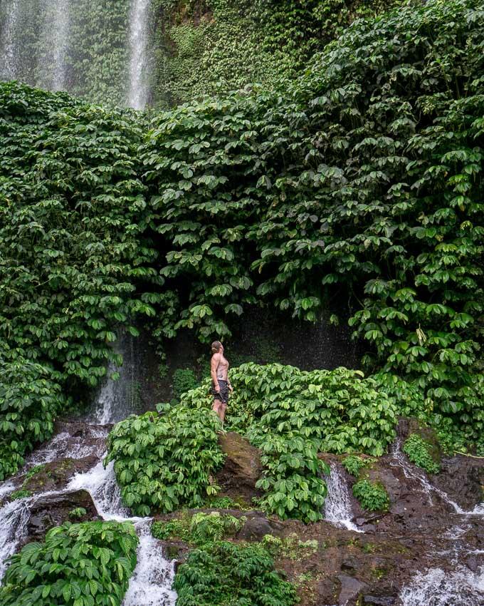 visit waterfalls in Lombok