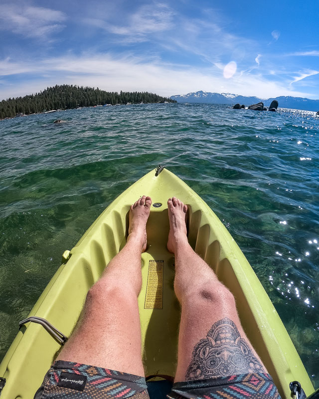 Zephyr Cove Lake Tahoe kayak