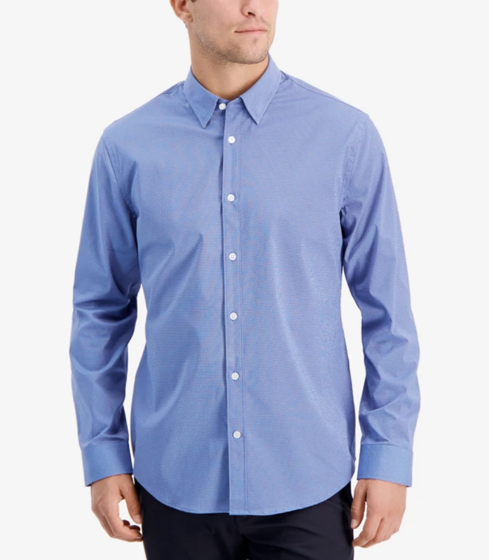 button down travel shirt men