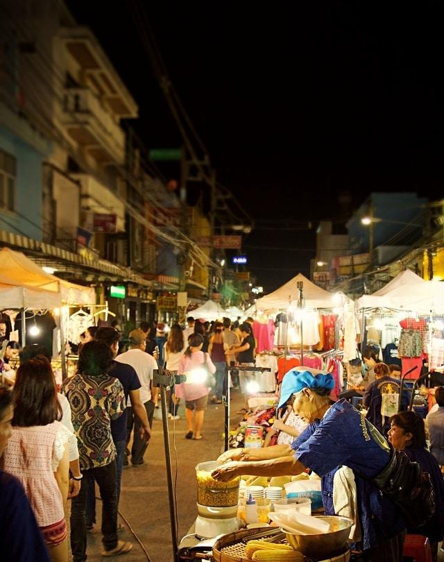 Thailand night market in Koh Phangan
